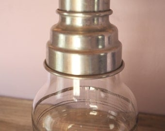 Antique Glass Cocktail Shaker