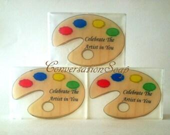 Artist Palette Soap, Art Teacher Gifts, Wedding Favors, Art Party, Novelty Soap,