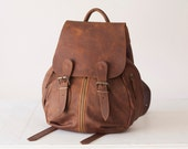 Leather backpack in brown bag, soft leather bag, everyday backpack,rucksack,daypack,knapsack,school bag-Artemis backpack