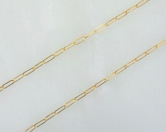 10 Feet 14K Gold Filled 2x5mm Drawn Cable Chain By The Foot