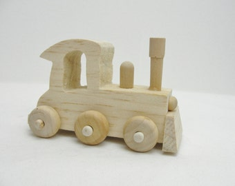 Small wooden train DIY paint your own