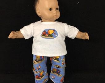 Bitty Baby Bitty Twin Bitty 15 Inch American Boy Doll Construction Vehicles Backhoe Dump Truck Cones Dirt Pajamas