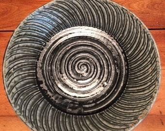 Ash Green Spiral Design Platter