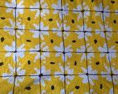 Vintage Vera Collection By Burlington  Gold White Floral Full Flat Sheet
