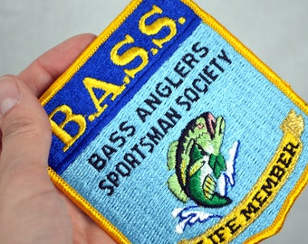Vintage Fish Bass Fishing Patch