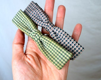 Lot of 2 Vintage Men's Wool Bow Ties - Ormond NYC Bowtie