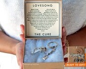 Love Song in a Bottle Keychain - Lovesong by The Cure - Bottle Keychain - Personalized Song Gift - Anniversary Birthday Gift - Ships Fast!