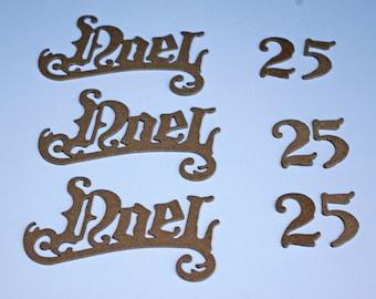 Chipboard Die Cut Word Set Noel 25