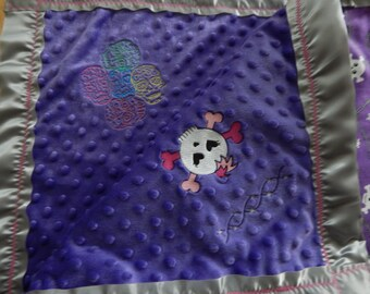 Skull Barbed Wire Baby Blanket