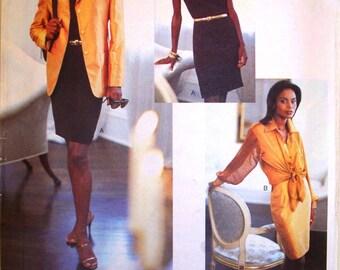vogue attitudes pattern 1512 ~ designer isaac mizrahi jacket, shirt and dress ~ (1994) ~ UNCUT