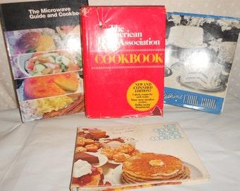 Cook book Heart Association Bisquick Watkins microwave set of 4