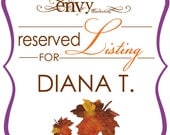 Custom Falling In Love... Again Hand-Cut Leaf Baby Shower Invitation Sets... Reserved for Diana T.