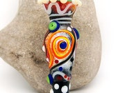 Muse of Poetry, New modern, Ancient MEDIEVAL style - Glass Art - Lampwork focal bead by Michou P. Anderson