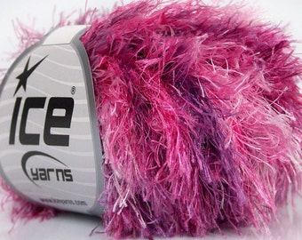 ICE YARNS COLORFUL White Pink Lilac 1 skein 50gr bulky polyester chunky craft rug yarn turkish us 10 82 yards  43693