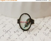 Feather Dream Ring in Antique Bronze