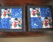 Snowman and the Starry Night Kitchen Potholder Set