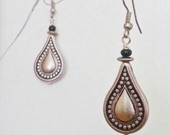 Boho Dangle Earrings lightweight Aluminum Fancy drop Silver Teardrops