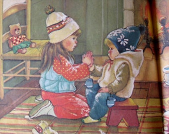 Prayers for a Child - Illustrated by Eloise Wilkin - Knee High Book - Vintage Children's Book - 1980s Children's Book