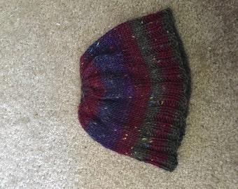 Multi-color tweed beanie