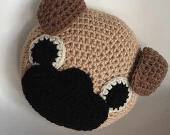 Crochet Pug Pillow