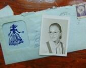 Vintage Handwritten Letter Summer Romance 1958 School Picture Enclosure