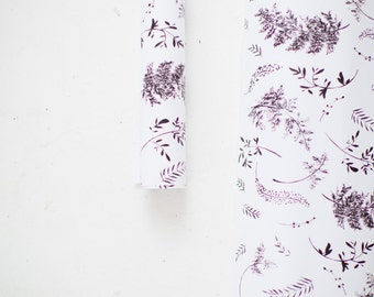 Gift Wrap Sheets - Black and White Fern Print - Holiday / Everyday - Set of 3 Sheets