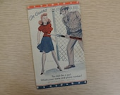 World War II humorous postcard On Guard risque 1941 funny soldier / pin-up girl post card paper ephemera