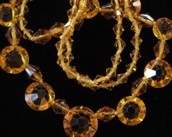 Hand Knotted Yellow Topaz Crystal Necklace