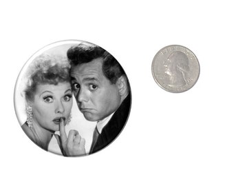 Lucy and Desi Refrigerator Magnet 2 1/4 inches in diameter Lucille Ball