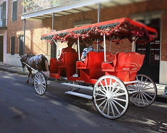 """New Orleans Wall Art """"Rollin 20"""" French Quarter Photograph. Affordable Home Decor. Carriage Ride, Art Print"""