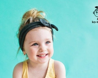 Jersey Headband with Bow (available in 9 colours)