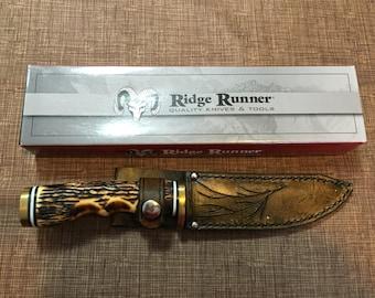 Ridge Runner Knife with a Custom Leather Sheath