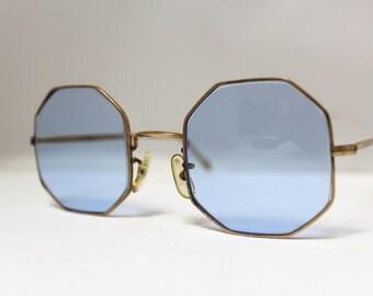 Rare Vintage Mod Sunglasses // 1960s Octagonal Shades // Retro/made in England