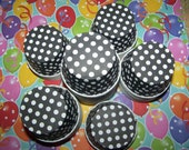 Treat/Portion Cups, Black/white Polka Dots, Party Cups, Cupcake Baking 12 Polka Dots Treat Cups
