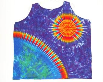 Tie Dye Tank Top Earth Sun Tye Dye Women's Tank Sm Med Lg Xl 2X 3X Grateful Dead psychedelic hippie boho tie dye T/T
