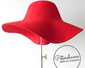 100% Wool Felt Capeline Hat Body for Millinery & Hat Making - Red Capeline