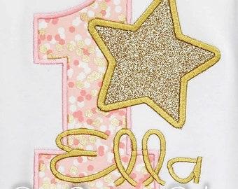 Star Birthday Shirt, Stars Birthday Shirt, Twinkle Twinkle Little Star Birthday Shirt or Bodysuit, Stars Birthday, Glitter shirt