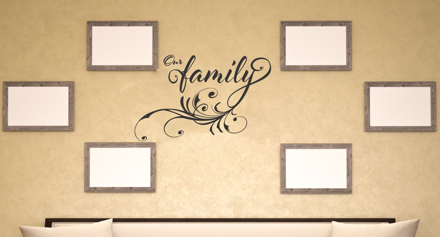 Our Family Wall Decal Vinyl Letters Sticker Wall Quotes For