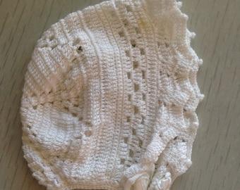 Old vintage newborn bonnet 0-3m