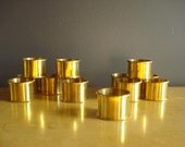 Shine for Your Table - Vintage  Brass Napkin Rings - Set of Twelve 12