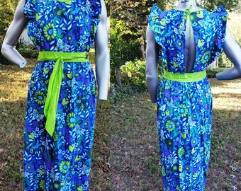 70s Apron / Vintage Apron / Butterfly Apron with Butterfly Sleeves by Design House