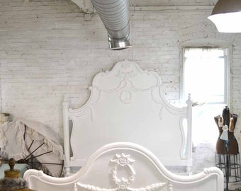 Painted Cottage Shabby Chic French Romantic Queen / King Bed