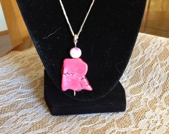 Pink Stone Necklace # I