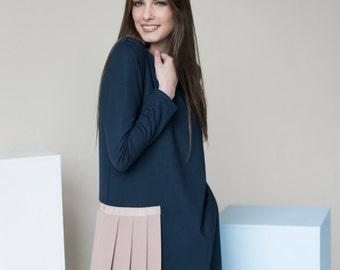 Long sleeve dress   Navy dress   Extravagant dress   LeMuse long sleeve dress