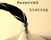 RESERVED LISTING FOR tm9211