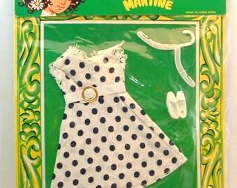 1970's Vintage La Boutique De Martine Made in Hong Kong Barbie Doll size clothes -  NOS 11 1/2 inch doll dress