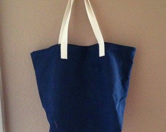 Large Cotton Shopping bag, canvas shopping bag, cotton reusable bag, Mens shopping bag, Basic Shopping Bag II