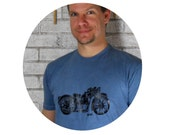 Motorcycle tshirt  Blue or your choice of color, Mens tee shirt, Gifts for MEN, Cotton Crewneck T Shirt
