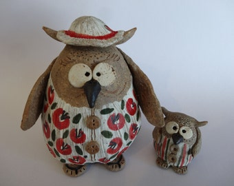 FREE SHIPPING Mama Owl and Owlet