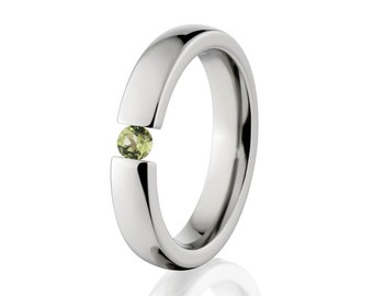Tension Set- Peridot- Ring-Uniquely You-   4HR-P-Tension-Peridot